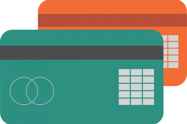 Illustration of two generic credit card