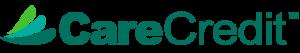 CareCredit logo in green, aqua, and teal